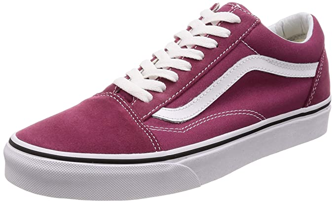 8383277c48d Amazon.com  Vans Unisex Old Skool Classic Skate Shoes (Dry Rose True White