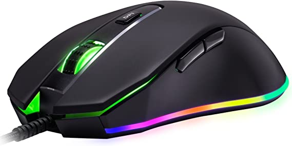 ROSEWILL Gaming Mouse with RGB LED Lighting