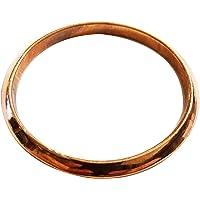 "Pure Copper Joint Less Bangle Bracelet 2.5"" Inner Dia Effective Astrological Remedy Weak/Fallen Sun/Surya Men Women…"
