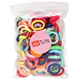 100PCS 20 Colors Toddler Hair Ties for Girls Kids, Baby Hair Ties, Elastic Hair Bands Ponytail Holder, Soft Seamless…