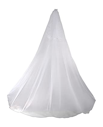 2 Tier Cathedral Swarovski Crystal Rhinestones Bridal Wedding Veil