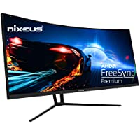 Deals on Nixeus EDG 34-in AMD Radeon 144Hz 1500R Curved Gaming Monitor