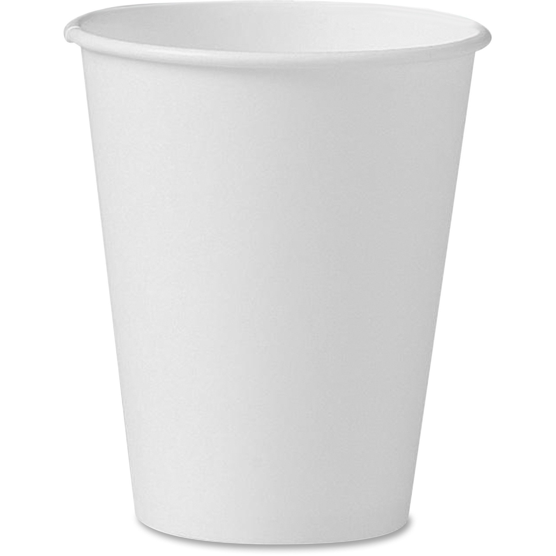 SOLO 378W2050 Single-Sided Poly Paper Hot Cups, 8oz, White, 50/Bag, 20 Bags/Carton