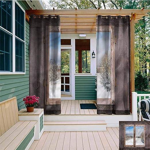 Beihai1Sun - Cortina de jardín para Exteriores, diseño rústico y Vibrante, para Porche, Playa y Patio: Amazon.es: Jardín
