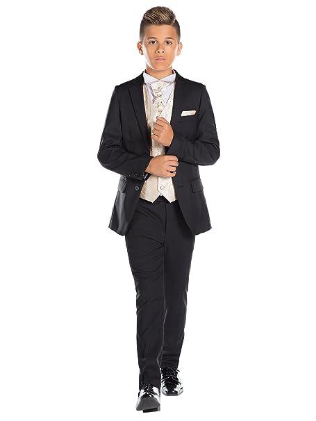 Paisley of London, niños traje negro, Slim Fit Suit, diamante chaleco y corbata, 12 – 18 M – 13 años