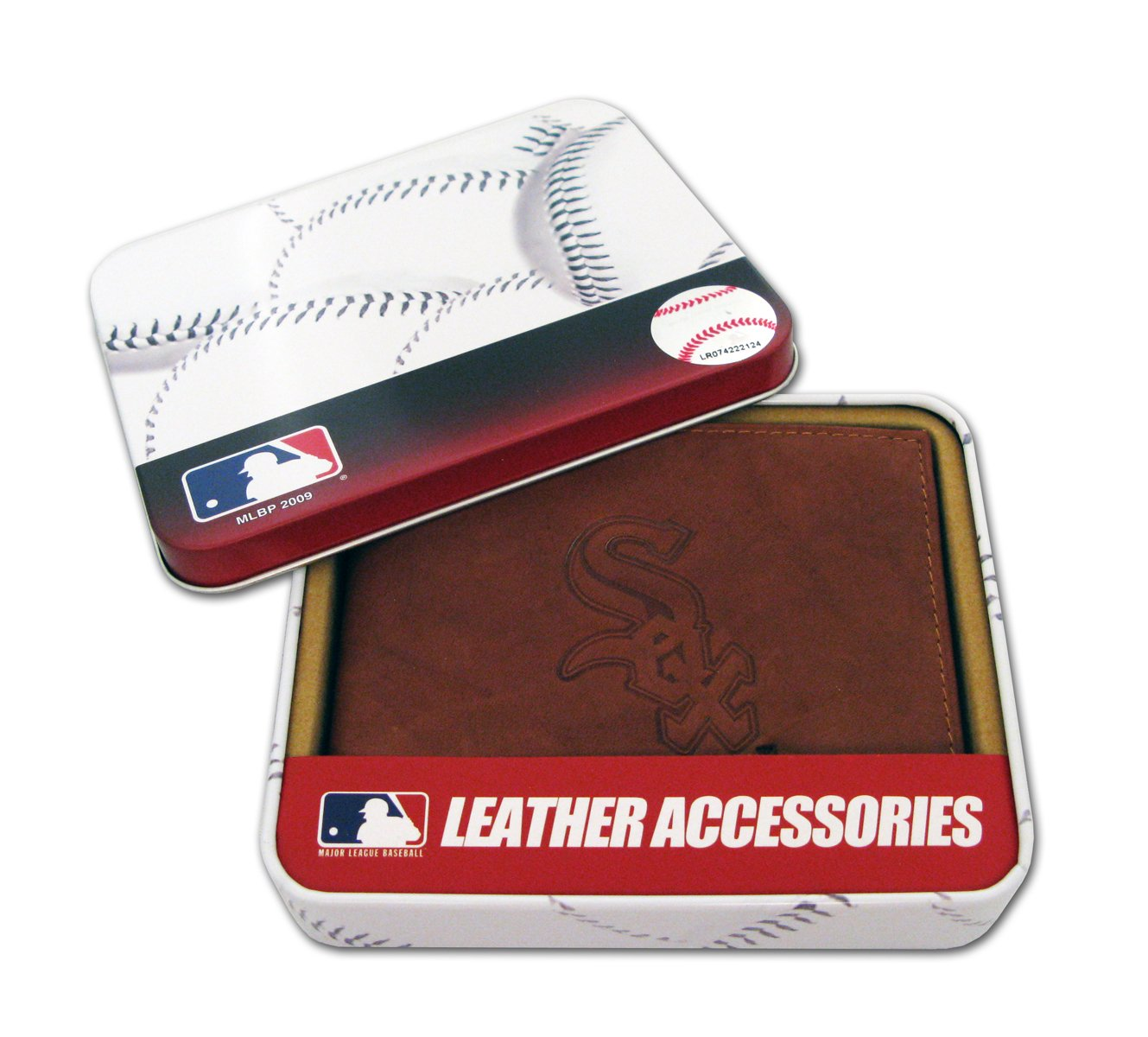 MLB Chicago White Sox Embossed Genuine Cowhide Leather Trifold Wallet