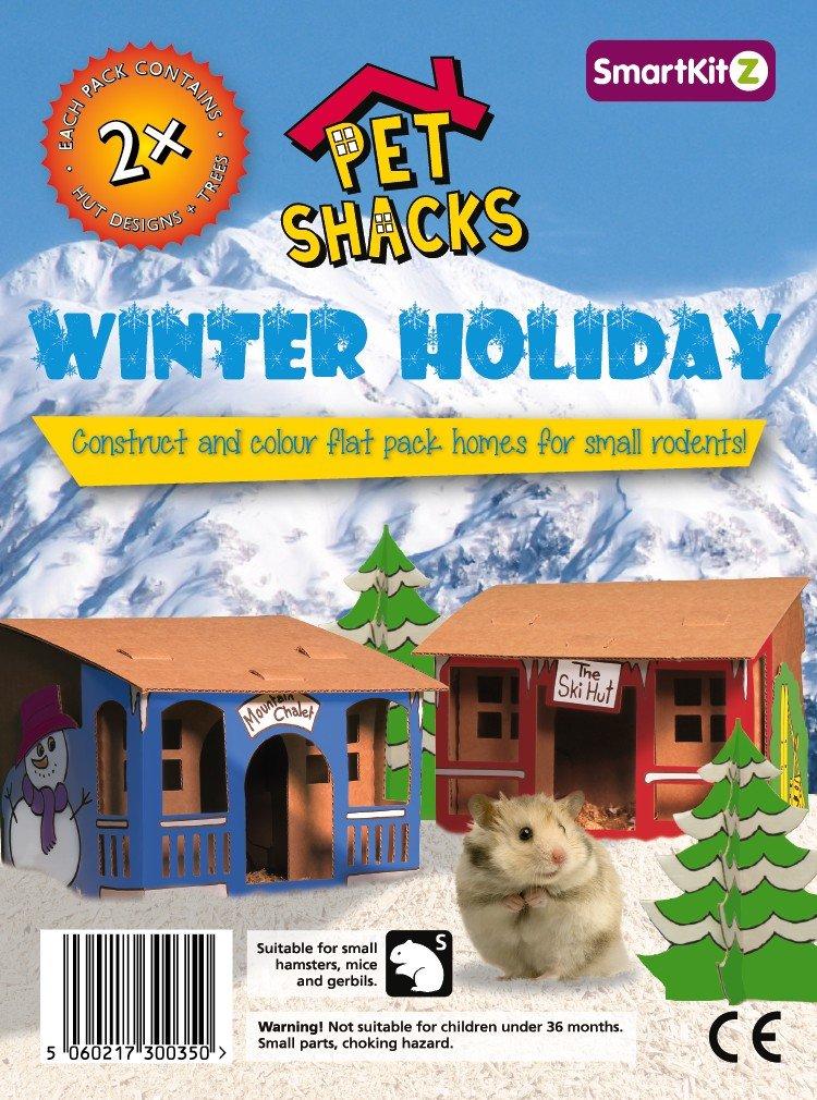 SmartKitz casas de vacaciones invierno Shack mascotas Pet Shack casas de vacaciones de invierno, 3,5 x 12 x 16,5 cm: Amazon.es: Productos para mascotas