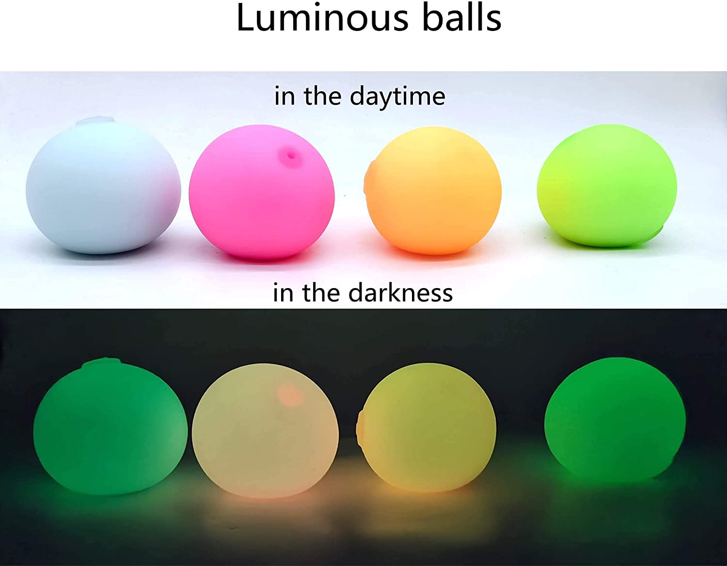 Squeeze Toys 3 Pack Nebula Color, Neon Color, Luminous ICINSKY Stress Balls for Adults and Kids Anxiety Sensory Releasing Ball Fidget Toys Complete Gift Set