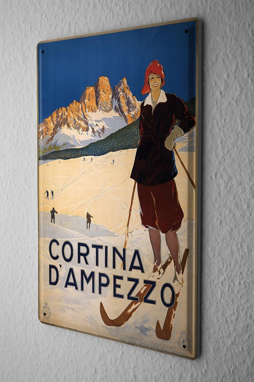 LEotiE SINCE 2004 Plaque en M/étal M/étallique Poster Mural tin Sign Globetrotteur Ski Suisse Alpes