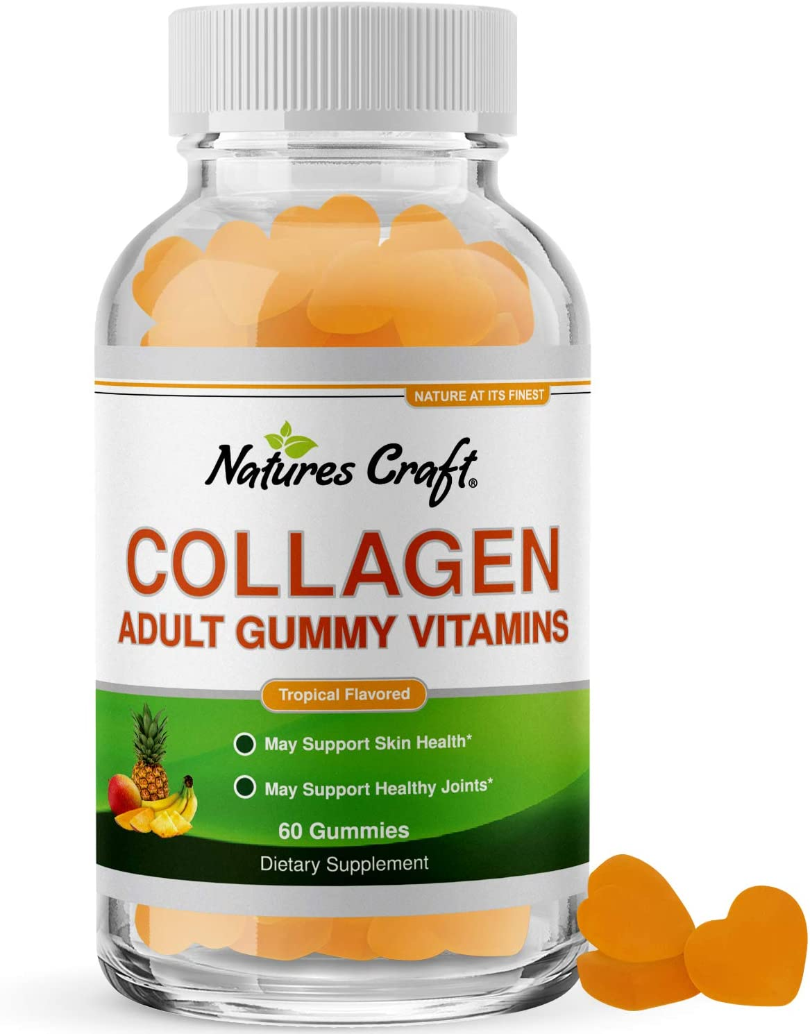 Hydrolyzed Collagen Hair Growth Gummies - Hair Skin and Nails Vitamins with Collagen for Hair Loss Nail Health and Growth and Joint Support - Gummy Hair Vitamins for Women and Men - Collagen Gummies