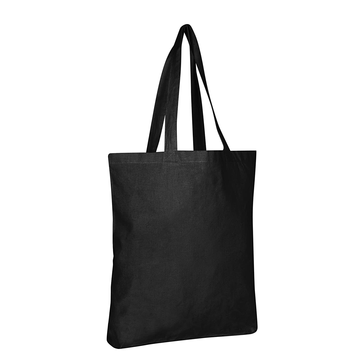100% Cotton Canvas Reusable Grocery Bags by BagzDepot (12 Pack, Black) by BagzDepot B01HVZZTGG 12 Pack|ブラック ブラック 12 Pack