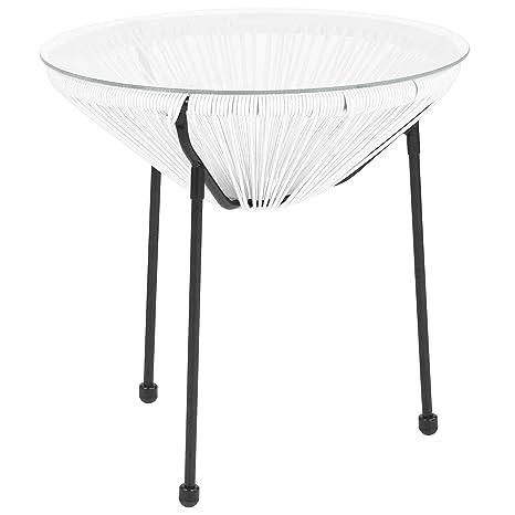 Amazon.com: Flash Furniture TLH-094T-WHITE-GG - Silla ...