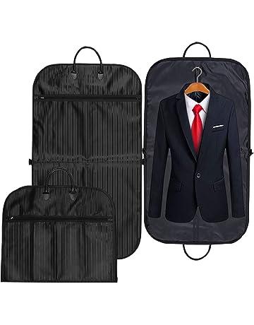 Housse de Costume Pliable Housse de Vêtements Transport Sac Protection  Imperméable Sacs de Voyage à Fermeture 8fca3450c8f