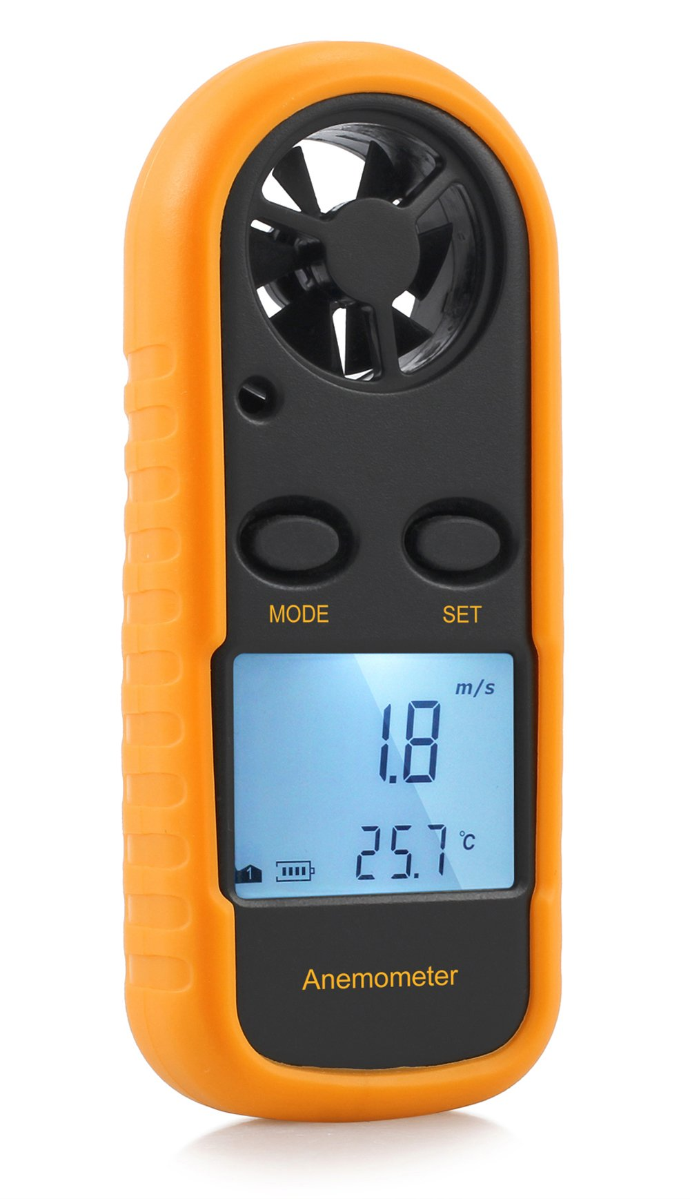 Tanice Anemometer Digital LED Wind Speed Meter Gauge Air Flow Velocity Measurement Handheld Thermometer with Backlight for Windsurfing Sailing Surfing Fishing