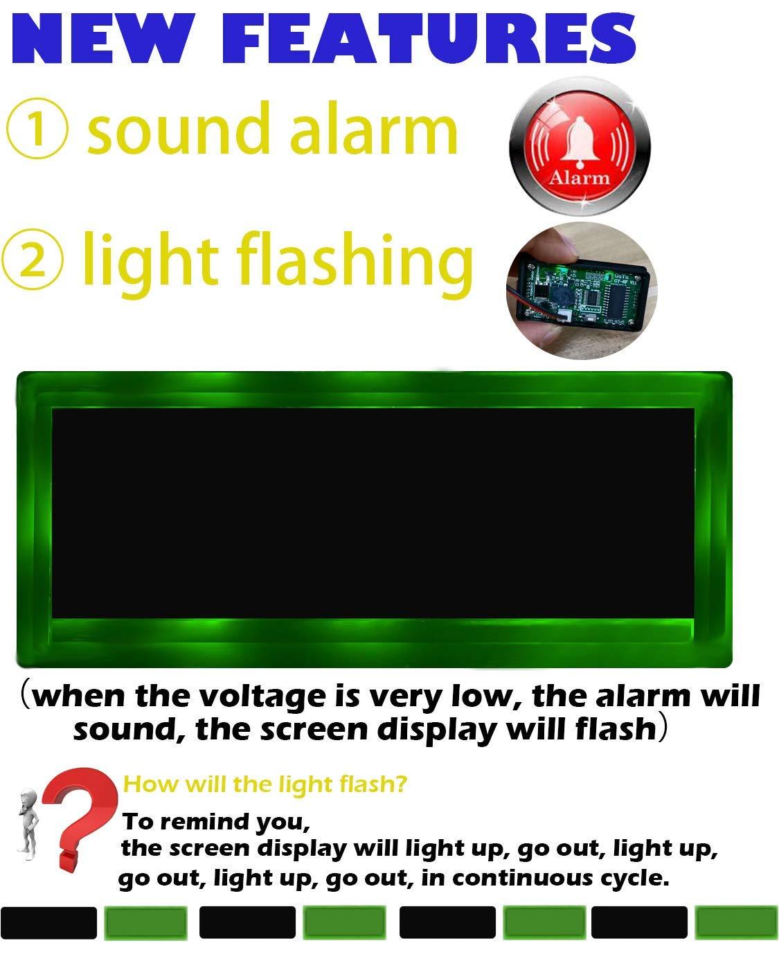 multifunktional cleanpower Alarm 12 V Kapazit/ät LCD-Anzeige f/ür Blei-S/äure-Batterie