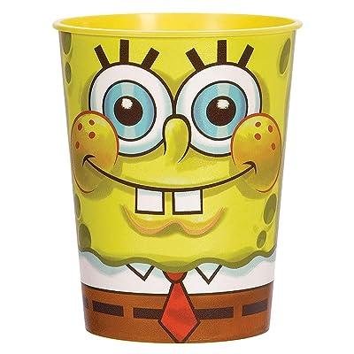 Spongebob Squarepants Plastic 16 Ounce Reusable Keepsake Favor Cup (1 Cup): Toys & Games