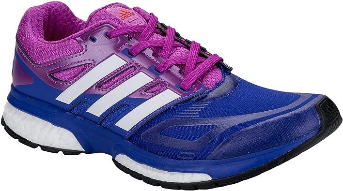 Zapatillas de correr para mujer Response Boost Techfit, de Adidas, en color morado, color Morado, talla 45 1/3 EU: adidas: Amazon.es: Zapatos y complementos