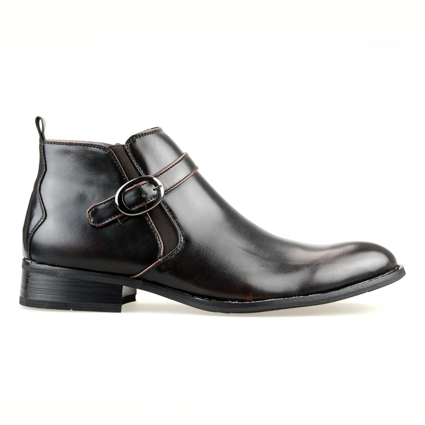 【11960円相当】 撥水加工 低反発 2足セット ビジネスシューズ メンズ ビジネスブーツ デザート ブーツ ショートブーツ ビジネス メンズ 靴 紳士靴 福袋 [ エムエムワン ] MM/ONE 【 UZF39B 】 B01LRVV9DC 26.0 cm 3E|Cダークブラウン+Eブラック Cダークブラウン+Eブラック 26.0 cm 3E