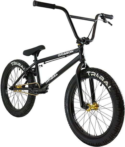 Tribal Dragon - Bicicleta BMX, Color Negro Mate: Amazon.es: Deportes y aire libre