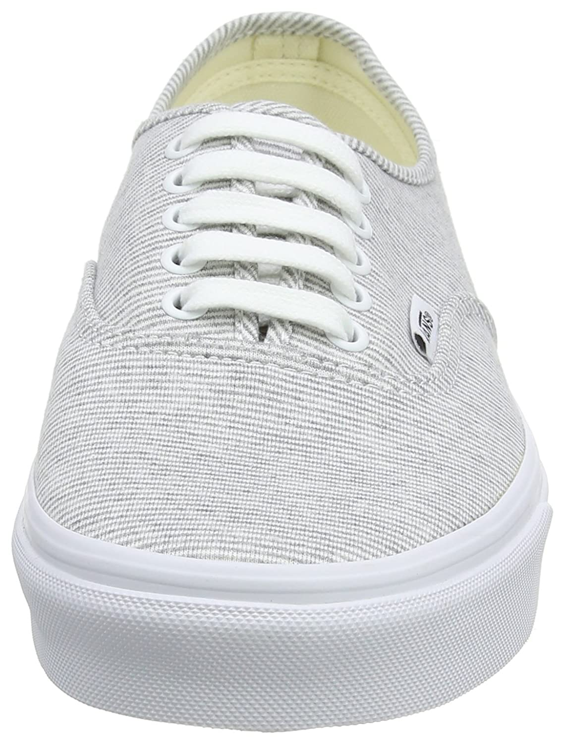 Vans Unisex Authentic Canvas US Shoes B076CV8QYQ 8 M US Canvas Women / 6.5 M US Men|Gray/True White 299f8b