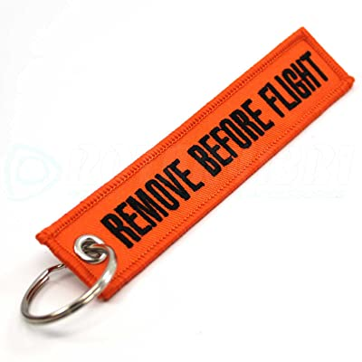 Rotary13B1 - Remove Before Flight Keychain - Orange: Automotive