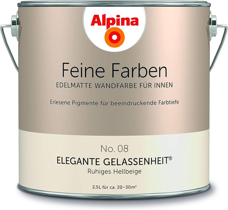 Alpina 2 5 L Feine Farben Farbwahl Edelmatte Wandfarbe Fur Innen No 8 Elegante Gelassenheit Ru Amazon De Baumarkt