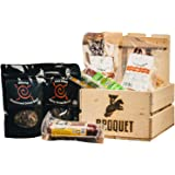 Exotic Meat Crate (Exotic Jerky Gift) - Jerky & Meat Sticks Sampler - Comes in a Wooden Gift Crate - Great Gift for Men - Exotic Meat Jerky Gift