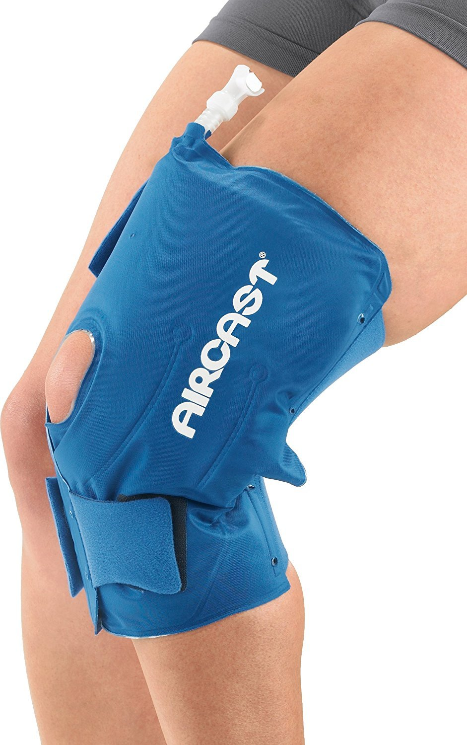 Aircast Cryo Cuff Knee Cold Therapy Machine Cooler for Cold Therapy Knee Solution - Blue - Large (20in - 31in) by Aircast