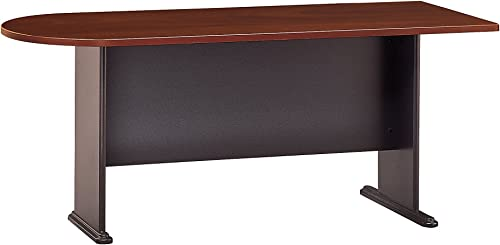 Bush Business Furniture Series A Collection 72W Universal Freestanding Peninsula in Hansen Cherry