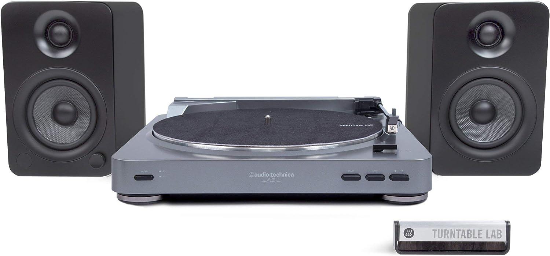 Audio-Technica: AT-LP60-USB Tocadiscos + Paquete de Altavoces ...