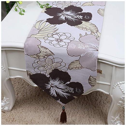 Caminos de mesa Elegante Mesa de Corredor Borla decoración patrón ...