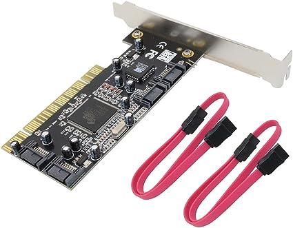 Amazon.com: 4 puertos PCI SATA RAID driver interno tarjeta ...