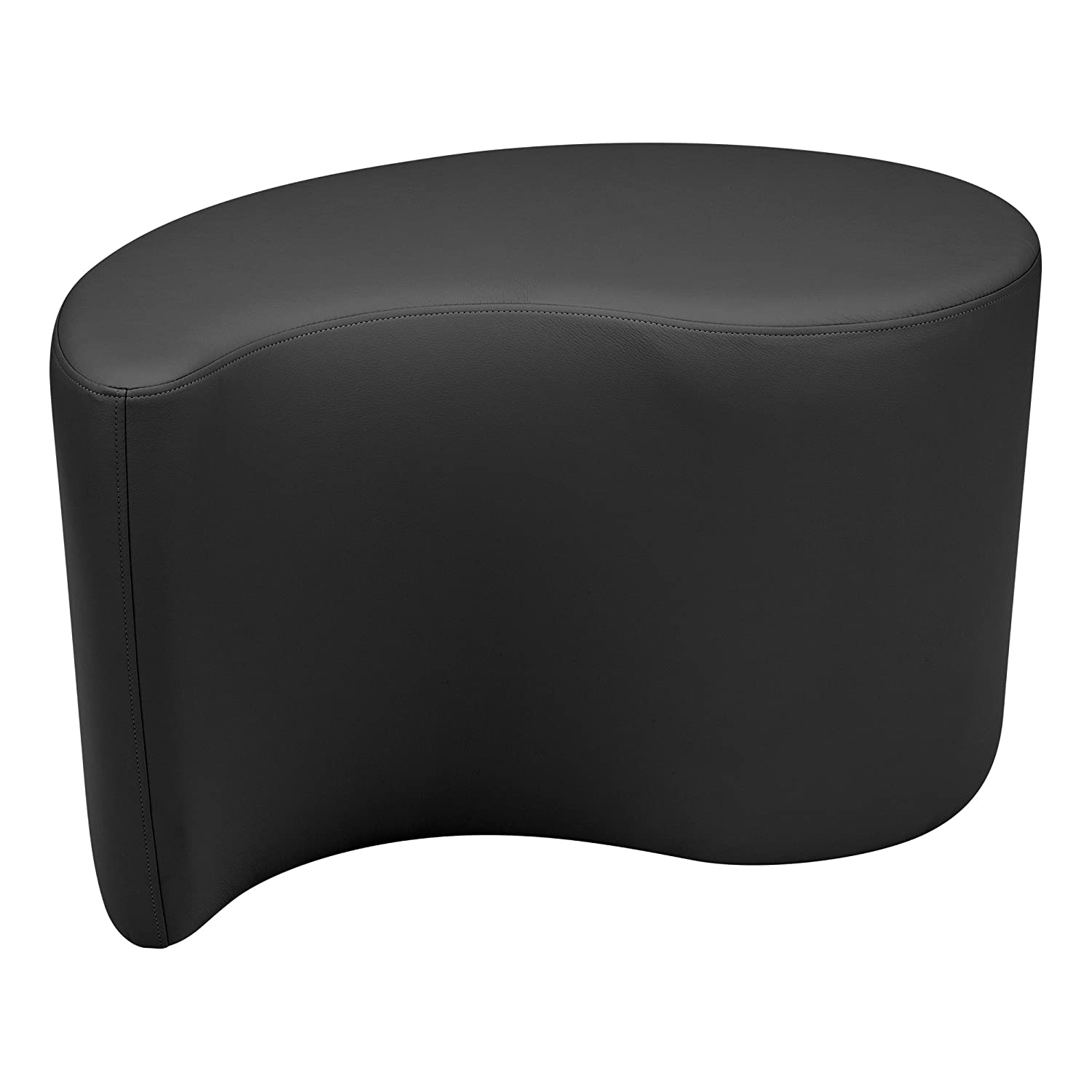 Learniture Shapes Series II Vinyl Soft Seating Stool Teardrop 18 H Black LNT 1002BK A