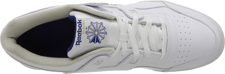 Reebok Workout Plus, Baskets Basses Homme 2759 39 Eu White Royal