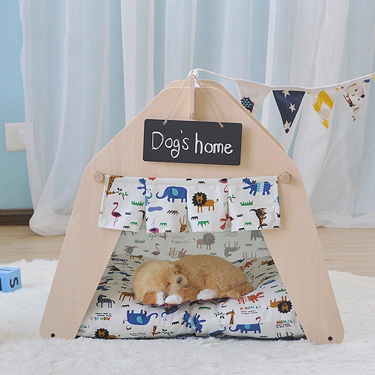 shanzhizui Casa de Mascotas DIY Tienda de Mascotas Casa de Perro Nido de Gato Cama de Perro Primavera y Verano Otoño e Invierno Cuatro Estaciones ...
