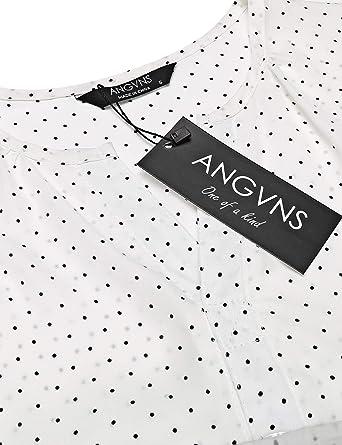 ANGVNS - Camisas - para mujer blanco Blanco¡3 Medium: Amazon.es: Ropa y accesorios