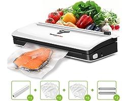 Bonsenkitchen Vacuum Sealer, Automatic Food Saver Vacuum Sealer Machine for Food Preservation, Dry & Moist Food Modes, Easy t