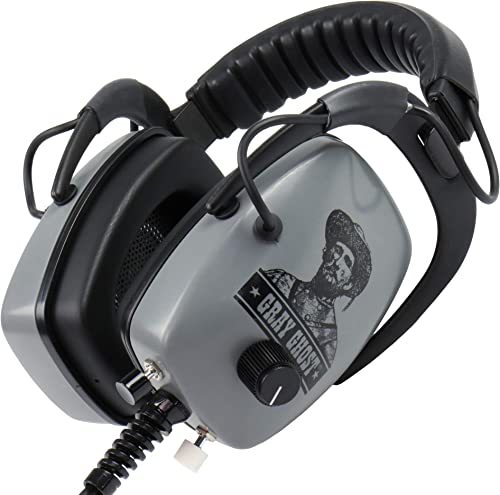 DetectorPro Ultimate Gray Ghost Platinum Series Headphones 1 4 Angle Plug