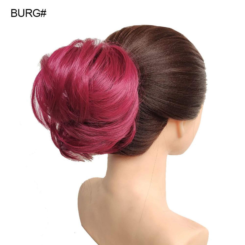 Amazon Com Natural Hair 30g Synthetic Donut Hair Bun Pad Popular High Side Bun Updos For Medium Length Hair Burg Beauty