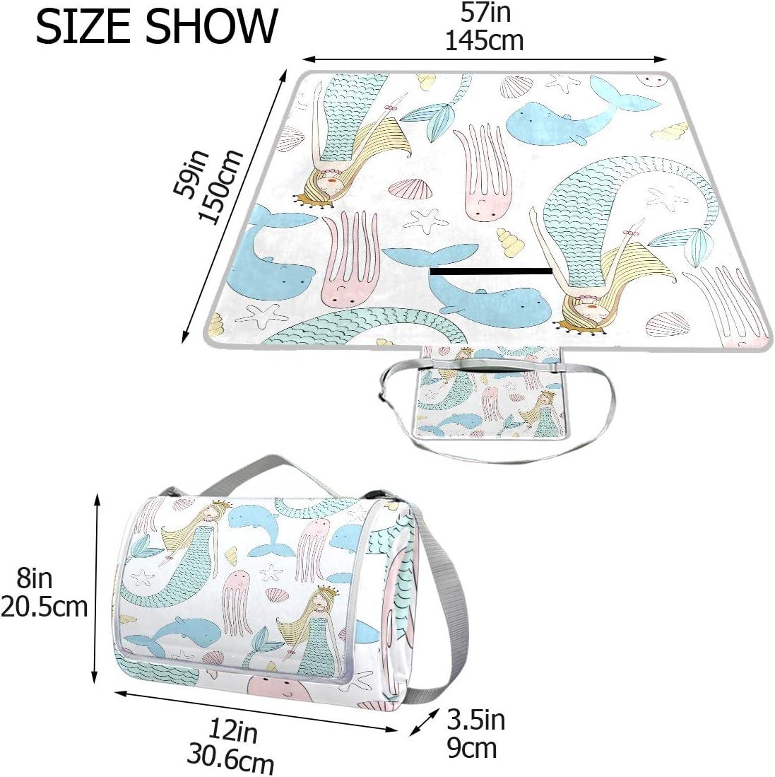 XINGAKA Coperta da Picnic Tappetino Campeggio,Gufi Senza Cuciture 2 del Modello di Vettore,Giardino Spiaggia Impermeabile Anti Sabbia 2