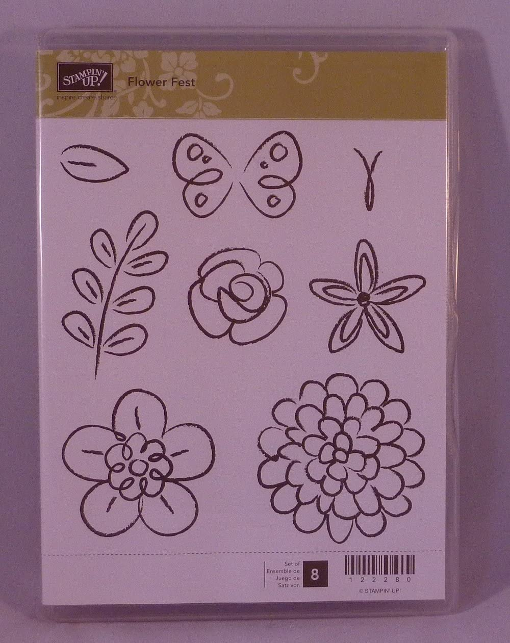 wood stamps hello there hello stamp flower stamp used stamps stampin up set Retired stampin up used stamp set thank you stamps