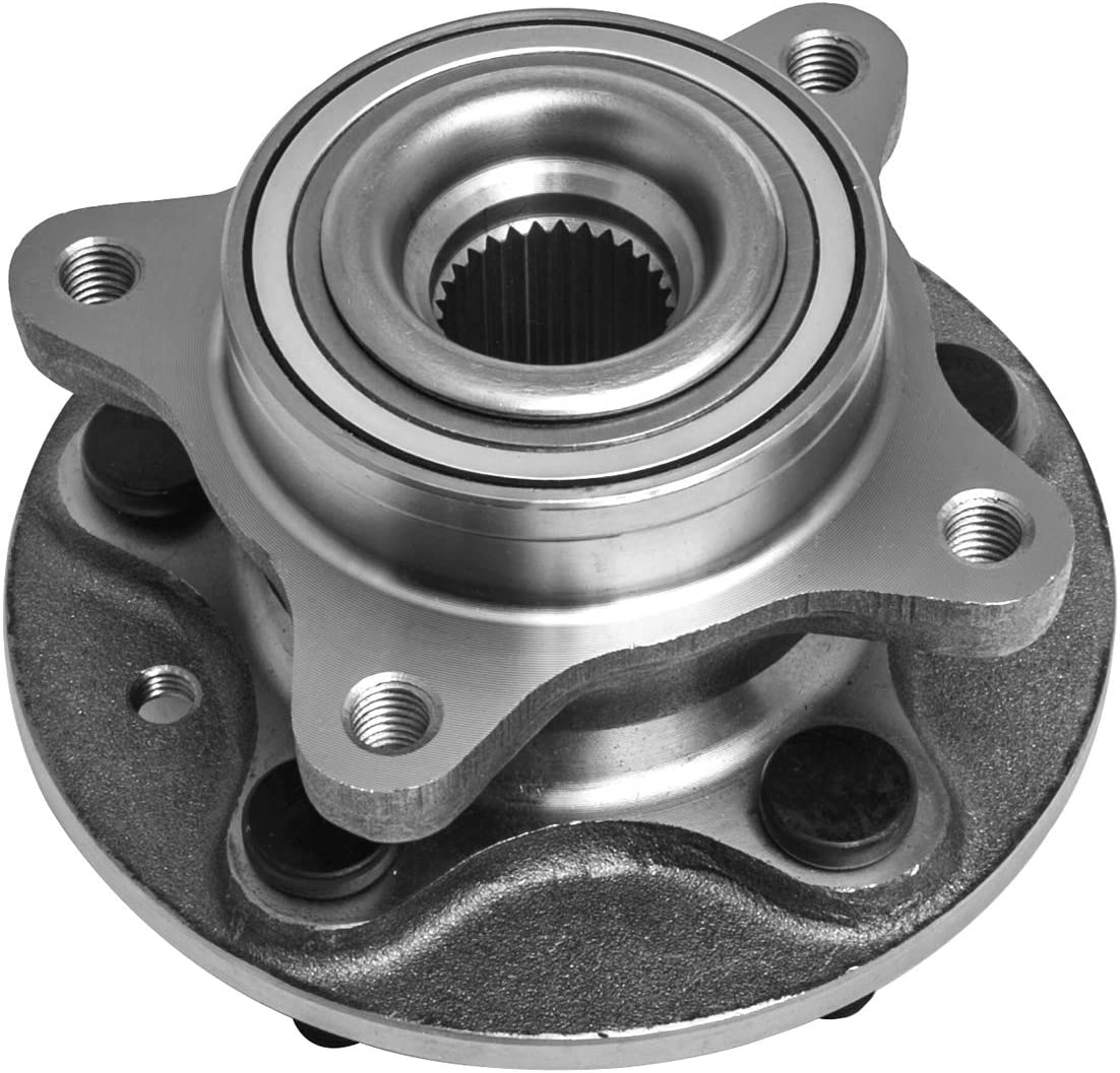 TUCAREST 515067 Front Wheel Bearing and Hub Assembly Compatible With 2006-2013 Land Rover Range Rover Sport 05-09 LR3 10-13 LR4 [5 Lug W/ABS]