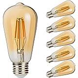 Betorcy エジソン電球 LEDフィラメントライト 4W エジソンライト 調光器対応 E26口金 400lm 電球色 2700K レトロ調電球 ヴィンテージ 広配光タイプ 360度発光 照明 電飾 6個入り