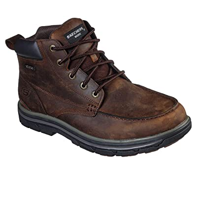 Skechers Men's Work Relaxed Fit: Vicksburk Gentain WP Boot | Industrial & Construction Boots
