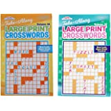 Kappa Take Along Large Print Crosswords 2 Pack Volume 58 and Volume 59