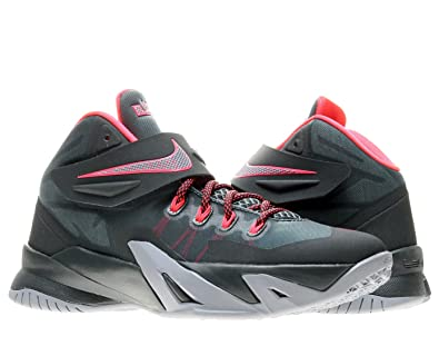 82898dc698ef4 Nike Zoom Lebron Soliders VIII (GS) Boys Basketball Shoes 653645-300  Mineral Slate