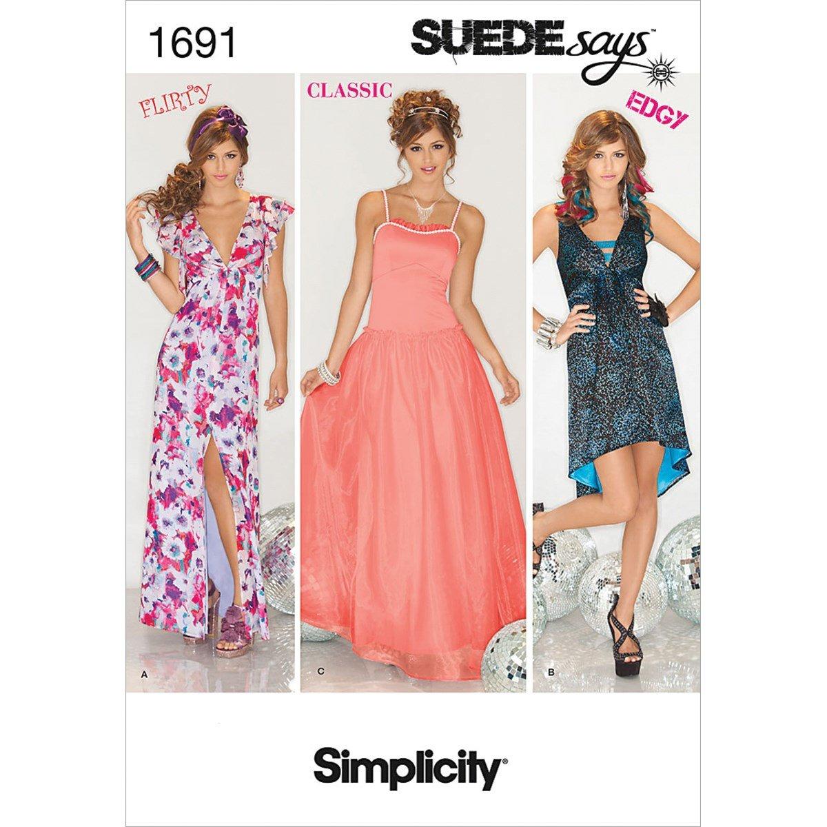 Simplicity 1691 Misses' Dresses SUEDEsays