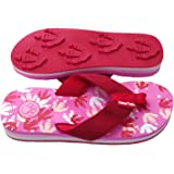 Little Kids Ages 4 /– 8 Animal Traks FLIP Flops Slippers- Wolf Print Sandals for Girls and Boys .