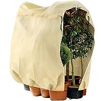 Telgoner Winter Plant Frost Beschermhoes, tuinfleece vorstbescherming voor planten met rits trekkoord, scheurbestendige…
