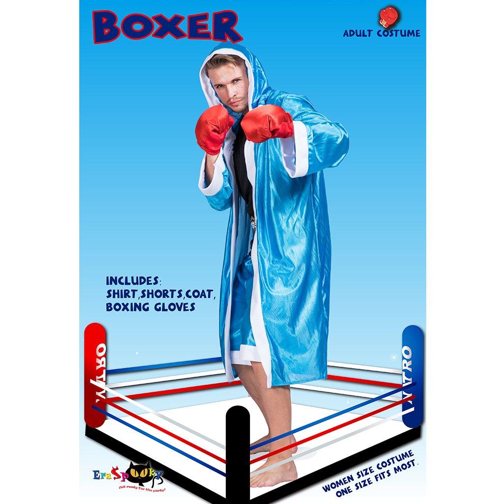JANDZ Trajes de Cosplay de Hombre Adulto: Halloween, Trajes de Fiesta. Batas de Boxeo. Set de Boxeador Azul.: Amazon.es: Productos para mascotas